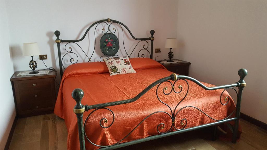 Letto o letti in una camera di B&B Monteguzzo