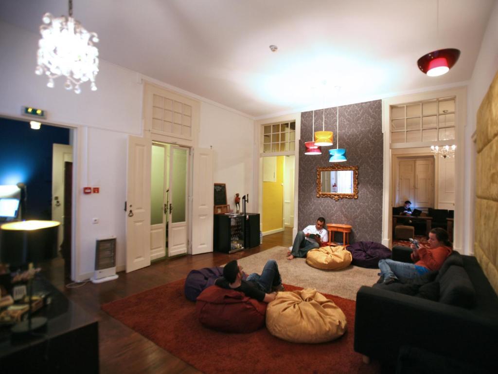 Coin salon dans l'établissement Travellers House - Hostel