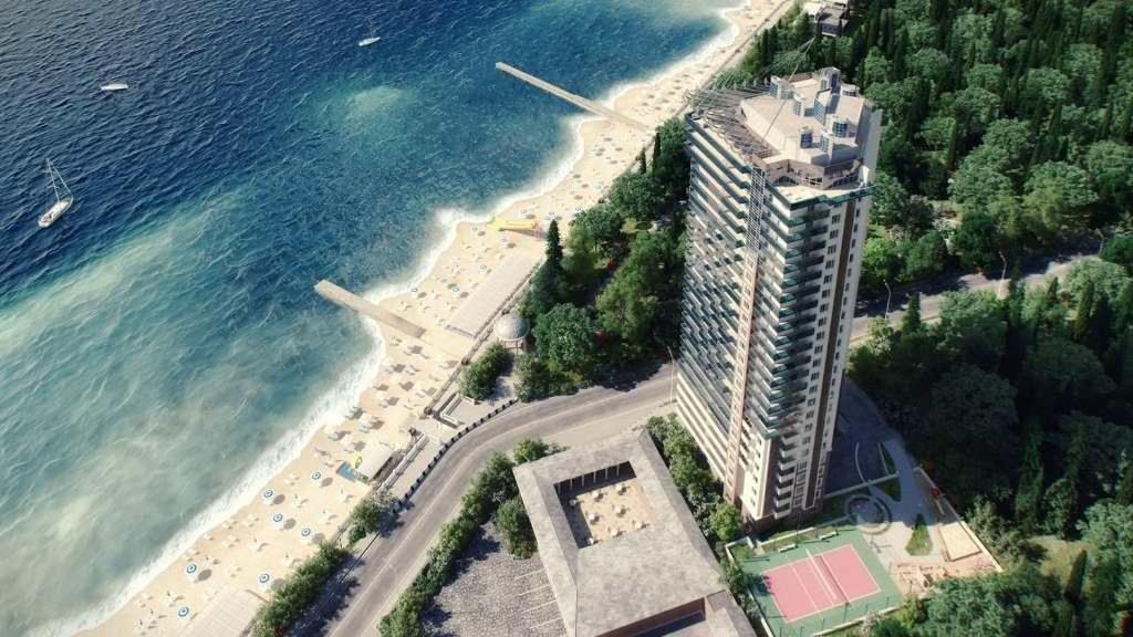 Apartment Chernomorskaya 10 Lux с высоты птичьего полета