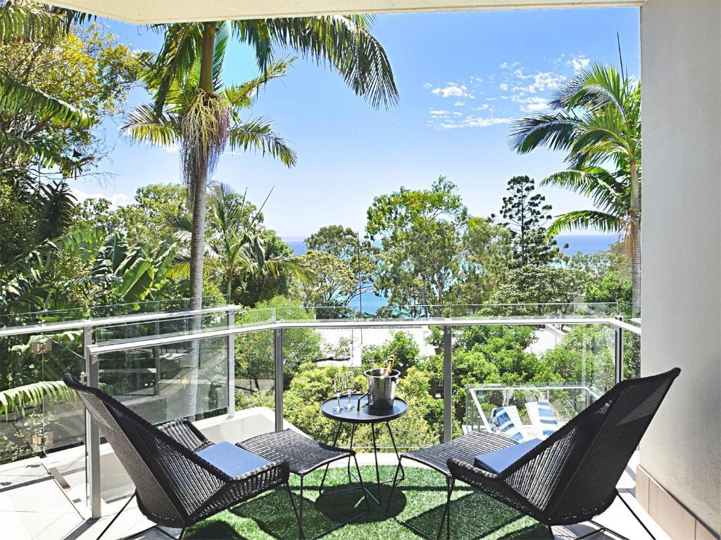 A balcony or terrace at Allambi
