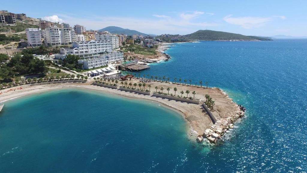 A bird's-eye view of Santa Quaranta Premium Resort