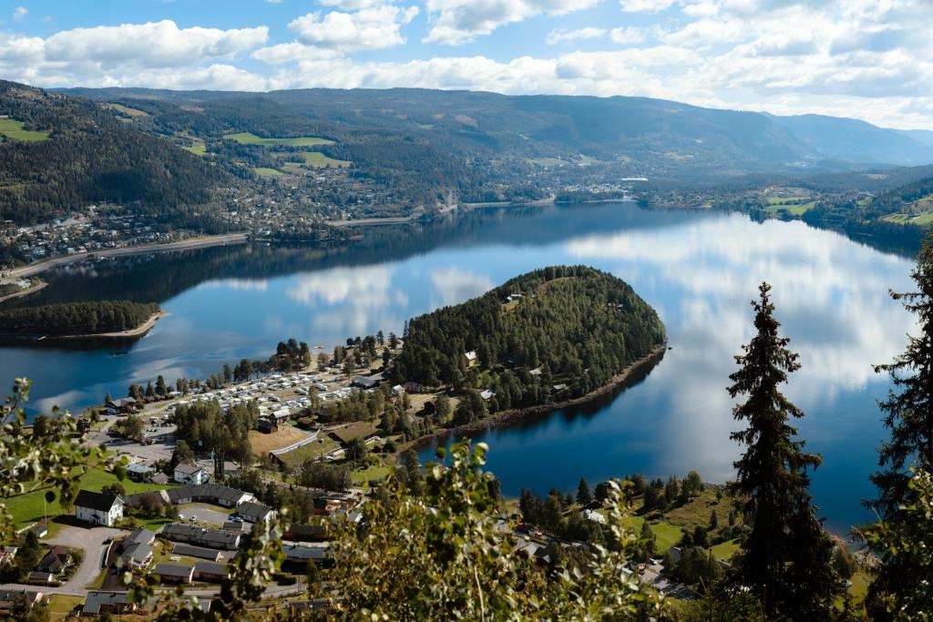 A bird's-eye view of Fagernes Camping