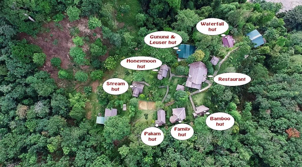 A bird's-eye view of On The Rocks Bungalows & Restaurant
