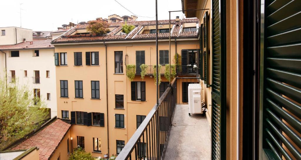A balcony or terrace at ALTIDO Brera's Gem