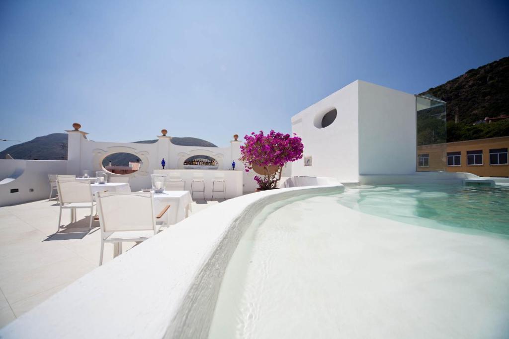 The swimming pool at or near La Settima Luna Hotel