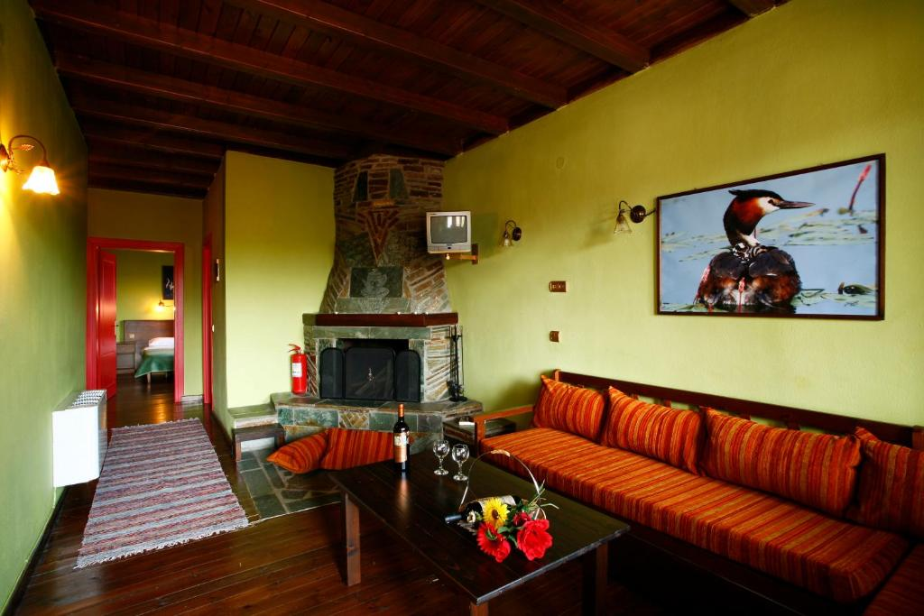O zonă de relaxare la Morfi Hotel