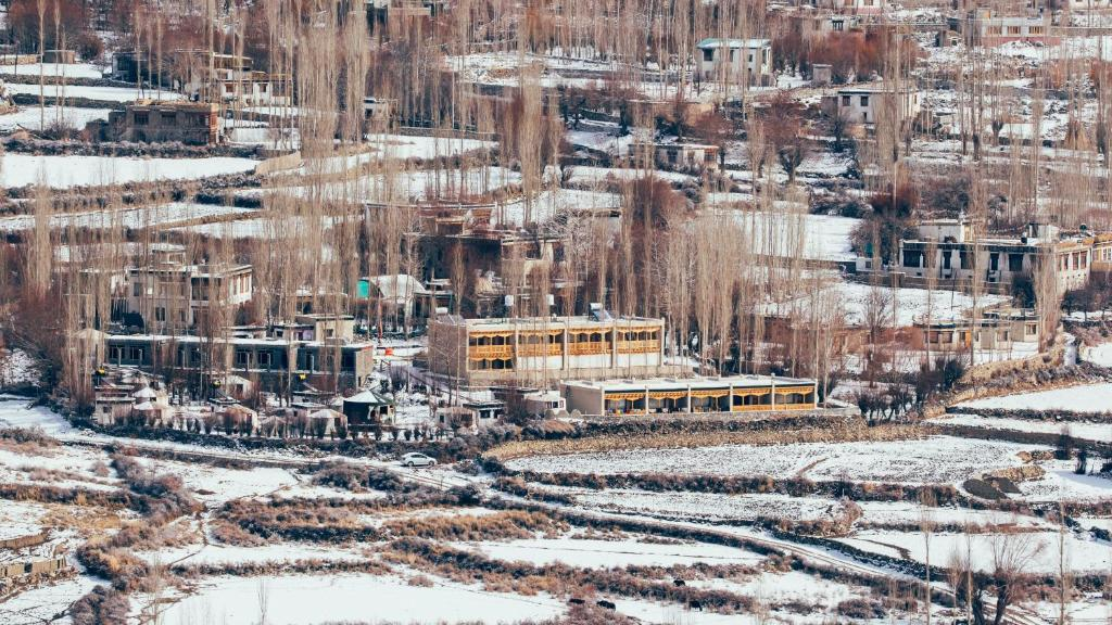 Ladakh Sarai Resort during the winter