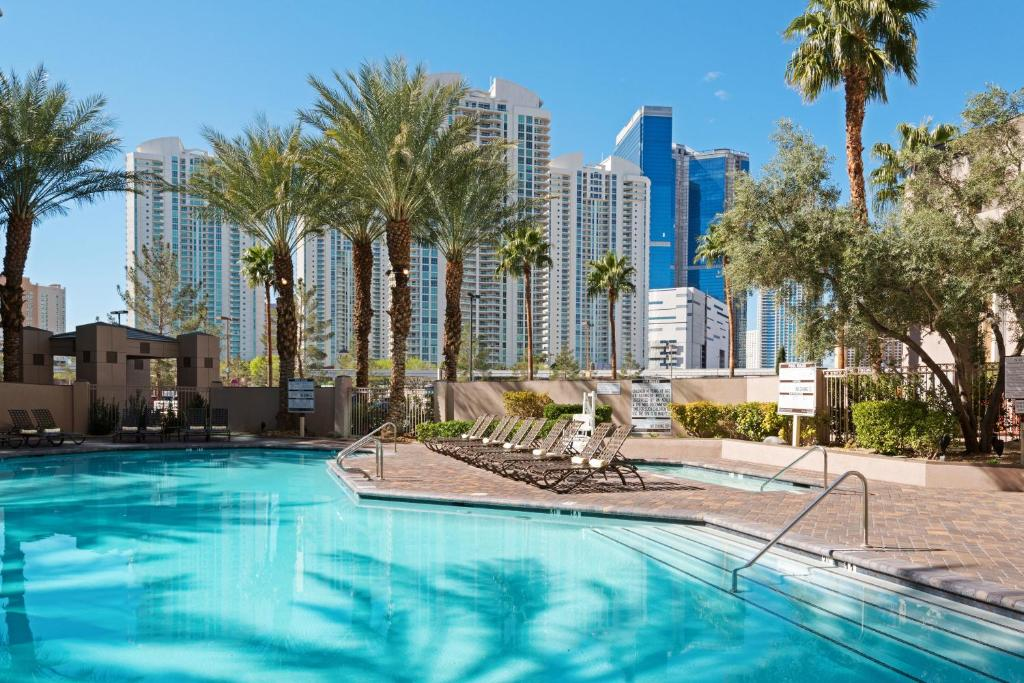 The swimming pool at or near Hilton Grand Vacations on Paradise - Convention Center