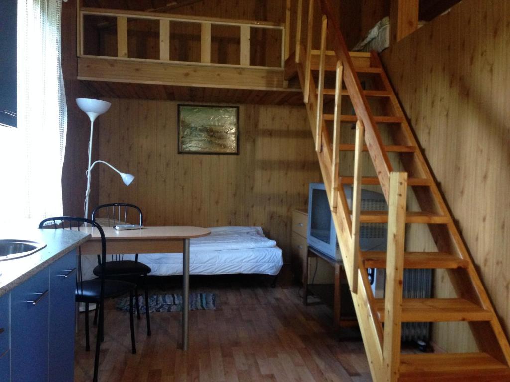 Кровать или кровати в номере Cottage Karelia