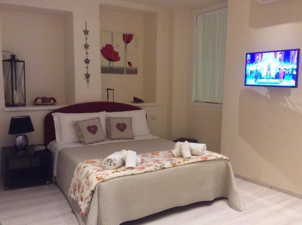Cama o camas de una habitación en Casabruni