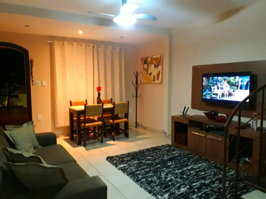 A television and/or entertainment center at Lu Duplex