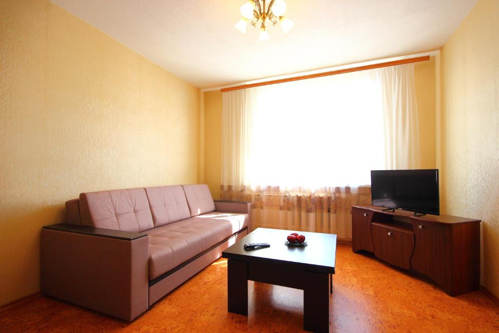 Гостиная зона в Apartment on Lenina 48