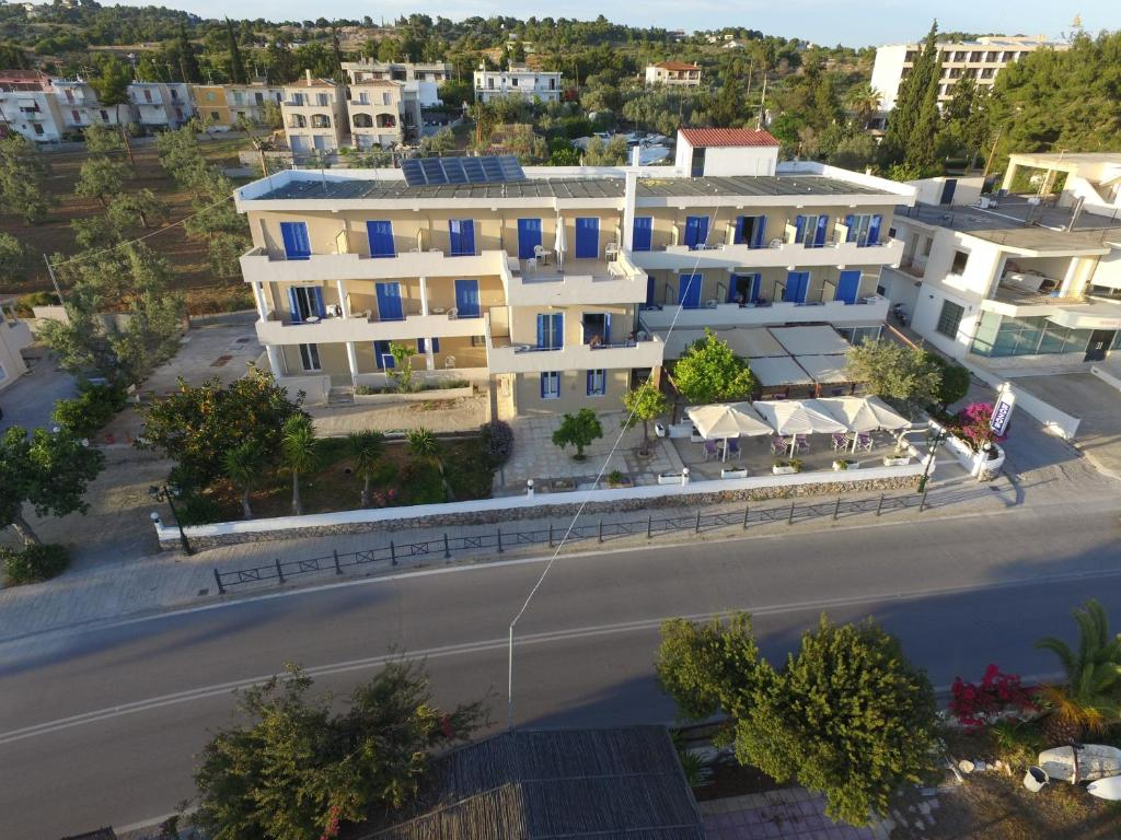 A bird's-eye view of Rozos Hotel