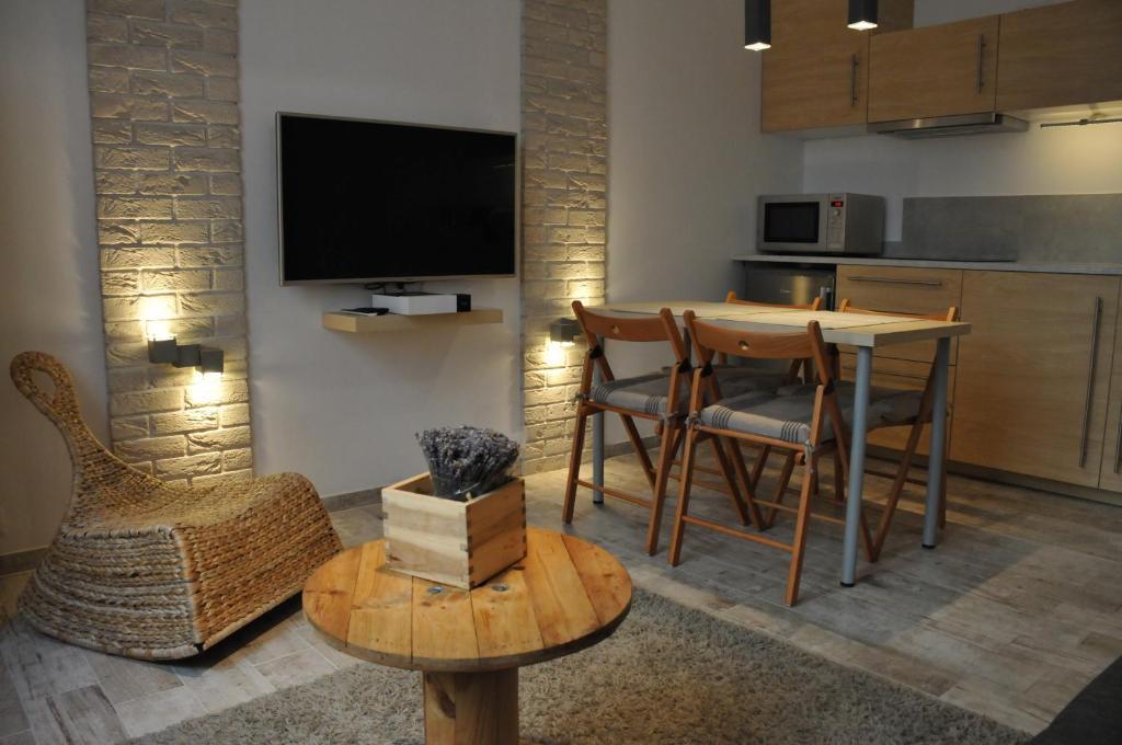 Telewizja i/lub zestaw kina domowego w obiekcie Apartament Cracow