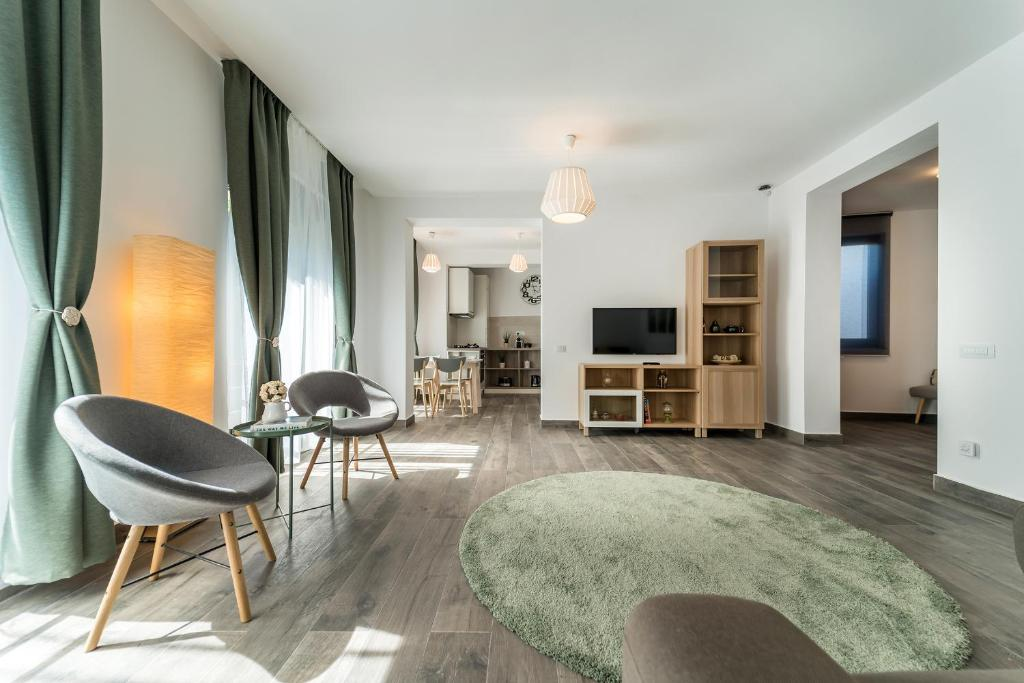 A seating area at Vila Cotroceni Boutique Apartments