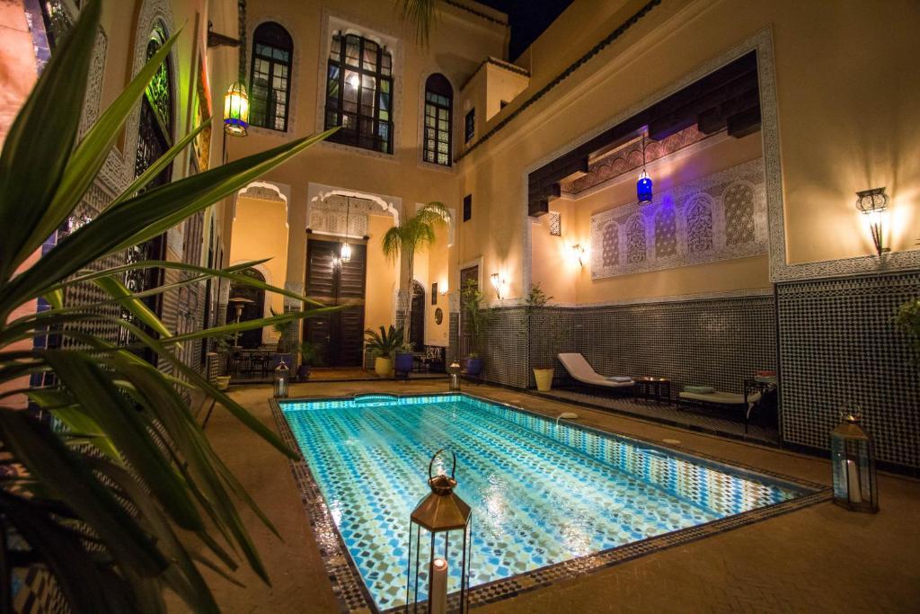 The swimming pool at or near Riad Fes Baraka