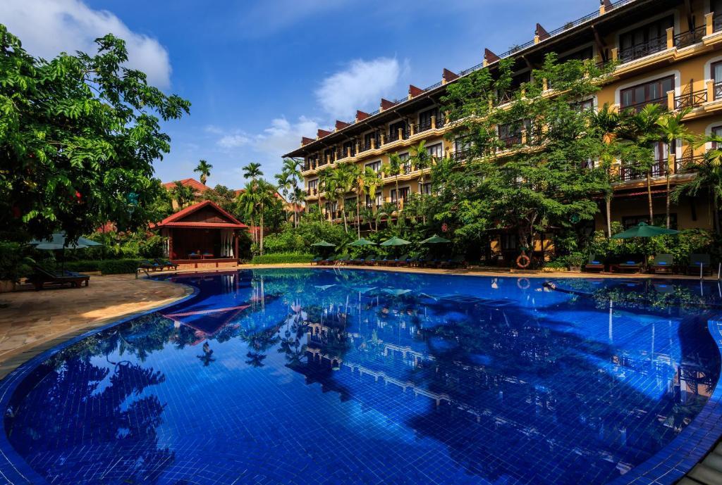 The swimming pool at or near Angkor Paradise Hotel