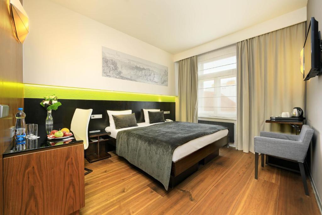 Cama o camas de una habitación en Ametyst Hotel Praha