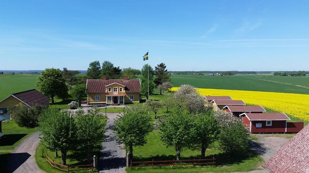 Ett flygfoto av Mellomgården