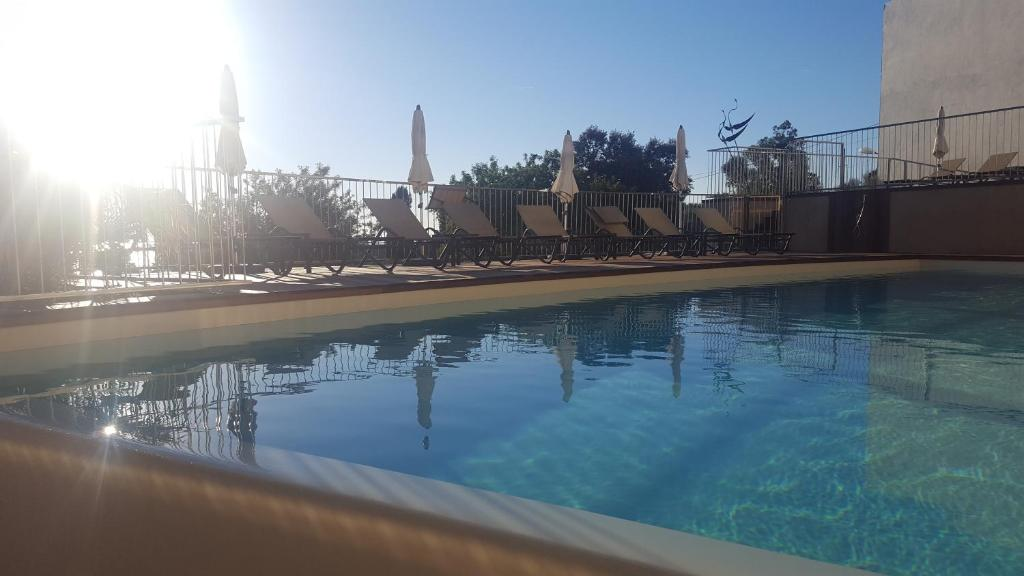 The swimming pool at or near Hotel Davia
