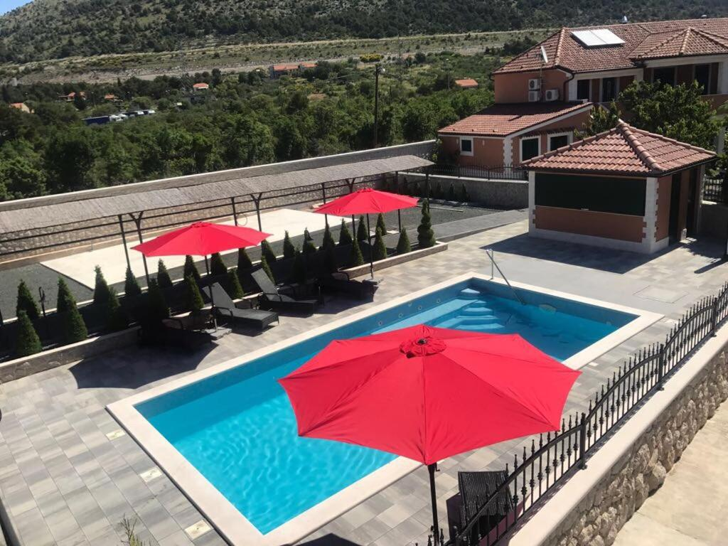 A view of the pool at Apartments Antonia or nearby