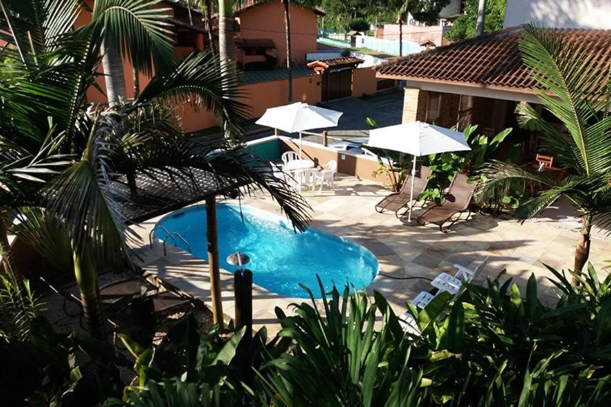 A piscina da Kauano Pousada