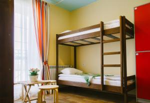 A bunk bed or bunk beds in a room at Fisch Herberg - Seld Tsarskiy Posol