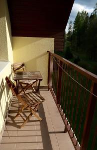 A balcony or terrace at Apartment Tatranská Kotlina
