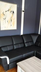 Ein Sitzbereich in der Unterkunft Villa 46 Flensburg