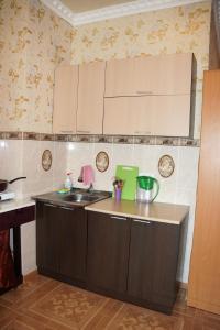 Кухня или мини-кухня в Апартаменты Сочи Остров Мечты