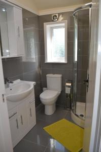 A bathroom at Copton Thatch Lodge