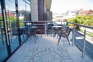 A balcony or terrace at Boutique Hotel Tamara