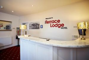 The lobby or reception area at The Terrace Lodge Hotel