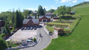 Letecký snímek ubytování Chaty Vrchlabí