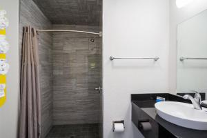 A bathroom at Motel 6 - Downtown Monterey