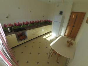 Кухня или мини-кухня в Apartment on Chetaeva 10