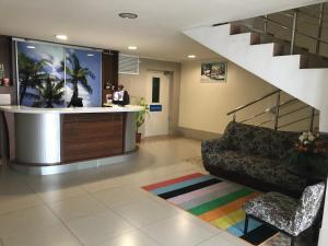 Лобби или стойка регистрации в Студия в центре Сочи