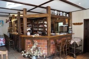 Lounge oder Bar in der Unterkunft Gasthaus am Waldbad