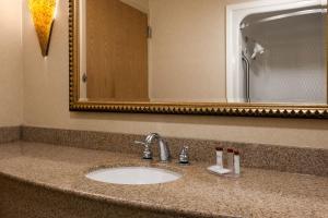 A bathroom at Ramada by Wyndham Toms River