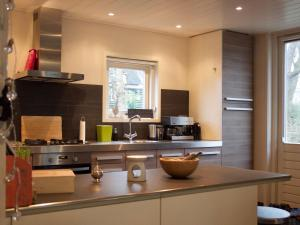 A kitchen or kitchenette at Cozy Holiday Home in Nieuwkoop near Lake