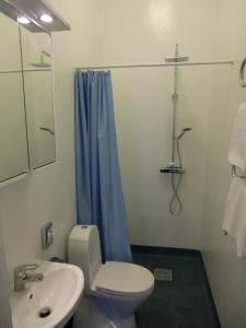 Ett badrum på Wapnö Gårdshotell