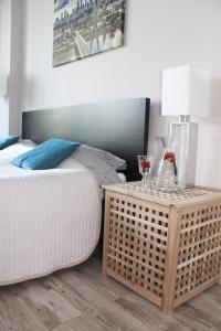 Łóżko lub łóżka w pokoju w obiekcie Apart Studio Warszawa