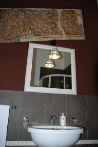 A bathroom at Locanda Re Ruggero