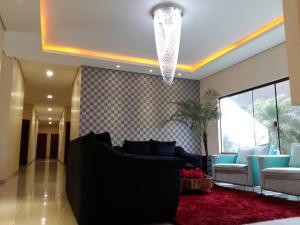 A seating area at Hotel Nova Geração