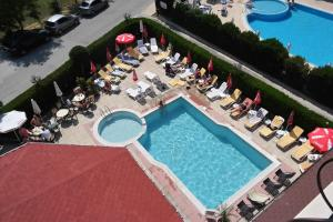 A view of the pool at Friends Family Hotel or nearby