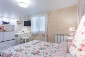 Кровать или кровати в номере Apt on Fontanka 80 #15