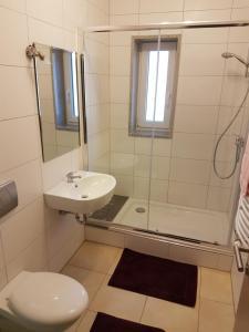 Ein Badezimmer in der Unterkunft Ferienwohnung Shaki
