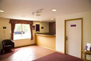 The lobby or reception area at Premier Inn Watford North