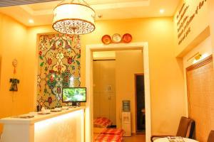De lobby of receptie bij Ark Apart and Suite Hotel