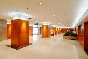 The lobby or reception area at Asahikawa Toyo Hotel